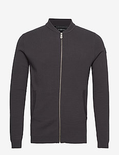 RACE KNITTED BOMBER - PHANTOM GREY