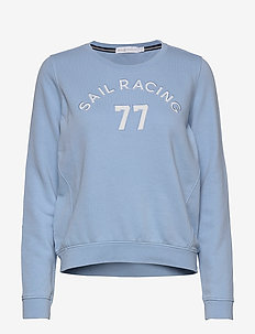 W GRINDER SWEATER - sweatshirts - placid blue