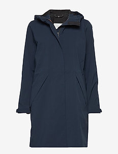 W LINK COAT - parka coats - navy
