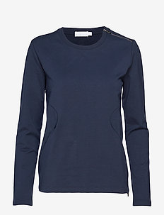 W RACE ZIP CREW NECK - NAVY