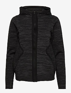 W RACE STRETCHKNIT ZIP HOOD - hoodies - carbon melange