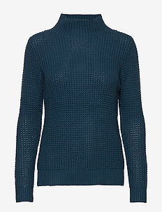W RACE WAFFLE KNIT POLO - dzianinowe - dark teal