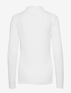 W RACE WAFFLE KNIT POLO - jumpers - white