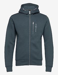 BOWMAN ZIP HOOD - hoodies - dark steel