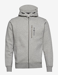 BOWMAN ZIP HOOD - hoodies - grey mel