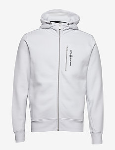 BOWMAN ZIP HOOD - hoodies - white