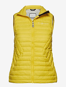 W LINK  DOWN VEST - LIGHT YELLOW