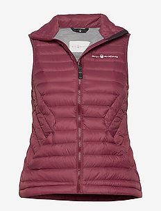 W LINK DOWN VEST - sports jackets - maroon