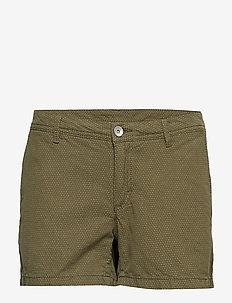 W GALE DOT SHORTS - outdoor shorts - military green dots