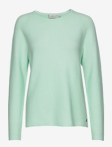 W RACE KNITTED CREW NECK - sweatshirts - aqua flow