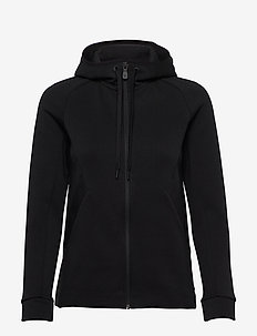 W RACE ZIP HOOD - bluzy z kapturem - carbon