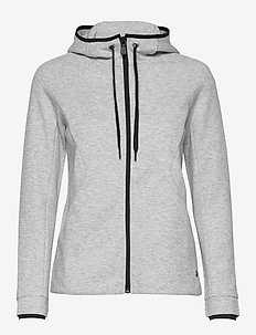 W RACE ZIP HOOD - hoodies - grey mel