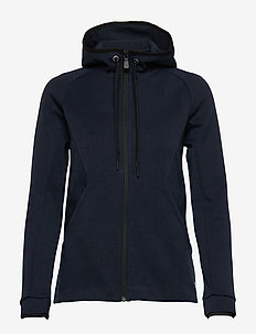 W RACE ZIP HOOD - hoodies - navy