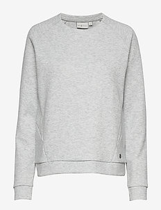 W RACE RAGLAN SWEATER - sweatshirts - grey mel