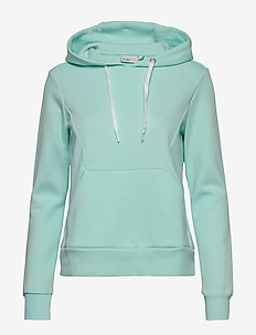 W RACE HOOD - hoodies - aqua flow