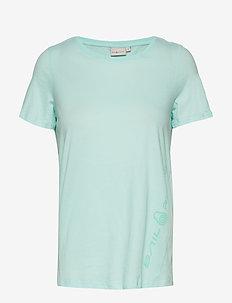 W GAIL TEE#2 - t-shirts - aqua flow