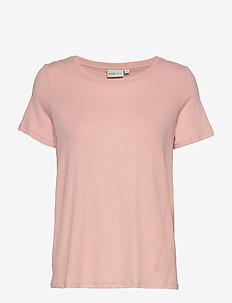 W GAIL TEE#2 - t-shirts - dusky pink