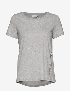 W GAIL TEE#2 - t-shirts - grey mel