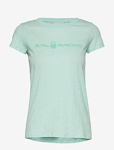W GALE TEE - t-shirts - aqua flow