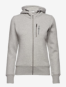 W GALE ZIP HOOD - hoodies - grey mel