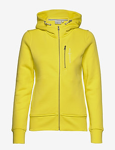 W GALE ZIP HOOD - LIGHT LEMON