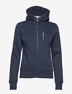 W GALE ZIP HOOD - hoodies - navy