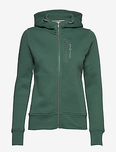 W GALE ZIP HOOD - SAGE GREEN