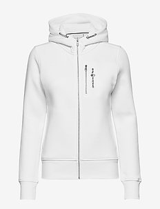 W GALE ZIP HOOD - bluzy z kapturem - white