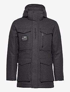 GLACIER BAY WOOL PARKA - insulated jackets - dk grey mel