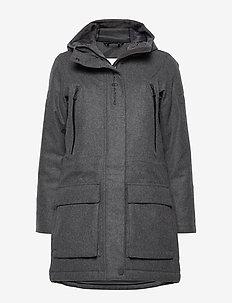 W GLACIER BAY  WOOL PARKA - wool jackets - dk grey mel