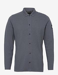SALINITY POLO SHIRT - basic shirts - anchor blue