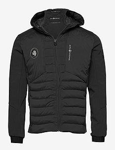 ANTARCTICA HYBRID HOOD - down jackets - carbon