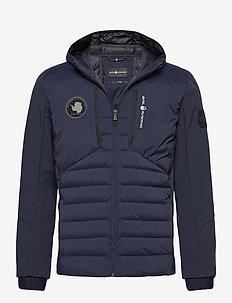 ANTARCTICA HYBRID HOOD - down jackets - navy