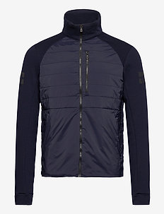 RACE TECH HYBRID ZIP JACKET - insulated jackets - navy
