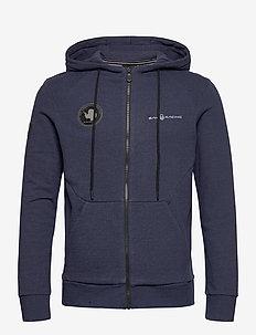 ANTARCTICA ZIP HOOD - basic sweatshirts - navy melange