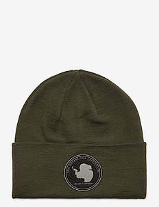 ANTARCTICA FOLDED WOOL BEANIE - beanies - forest green