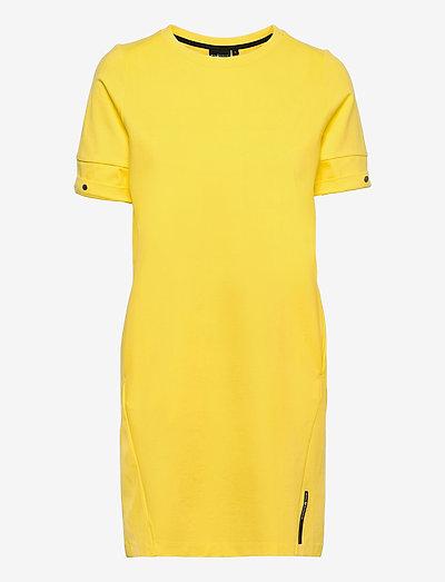 W RACE HEAVY DRESS - sukienki letnie - light lemon