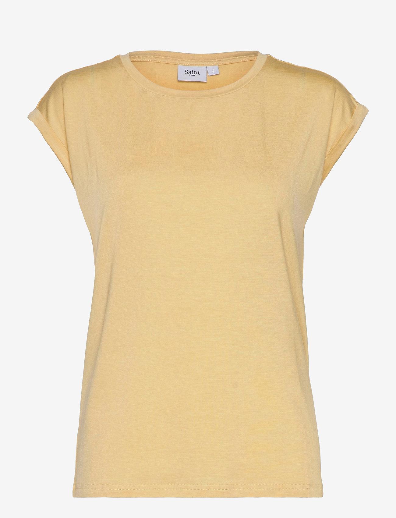Saint Tropez - U1520, JERSEY TEE S/S - t-shirts - straw - 1