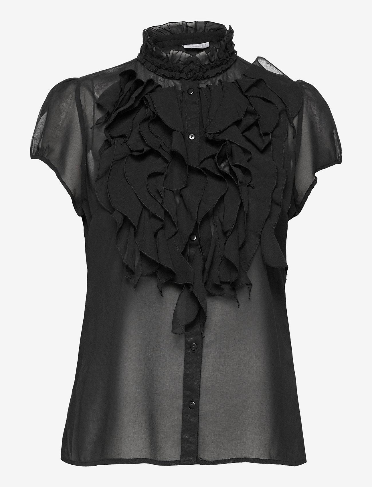 Saint Tropez - LillySZ SS Shirt - kortärmade blusar - black - 1