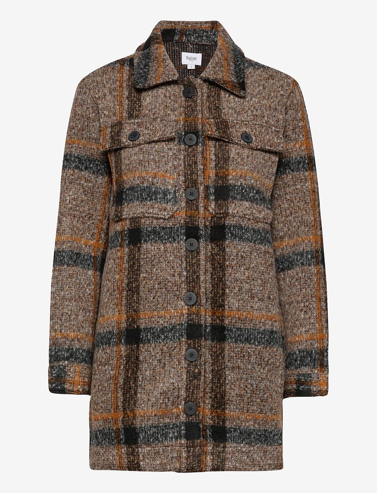 Saint Tropez - TayjaSZ LS Jacket - wool jackets - dark earth - 1