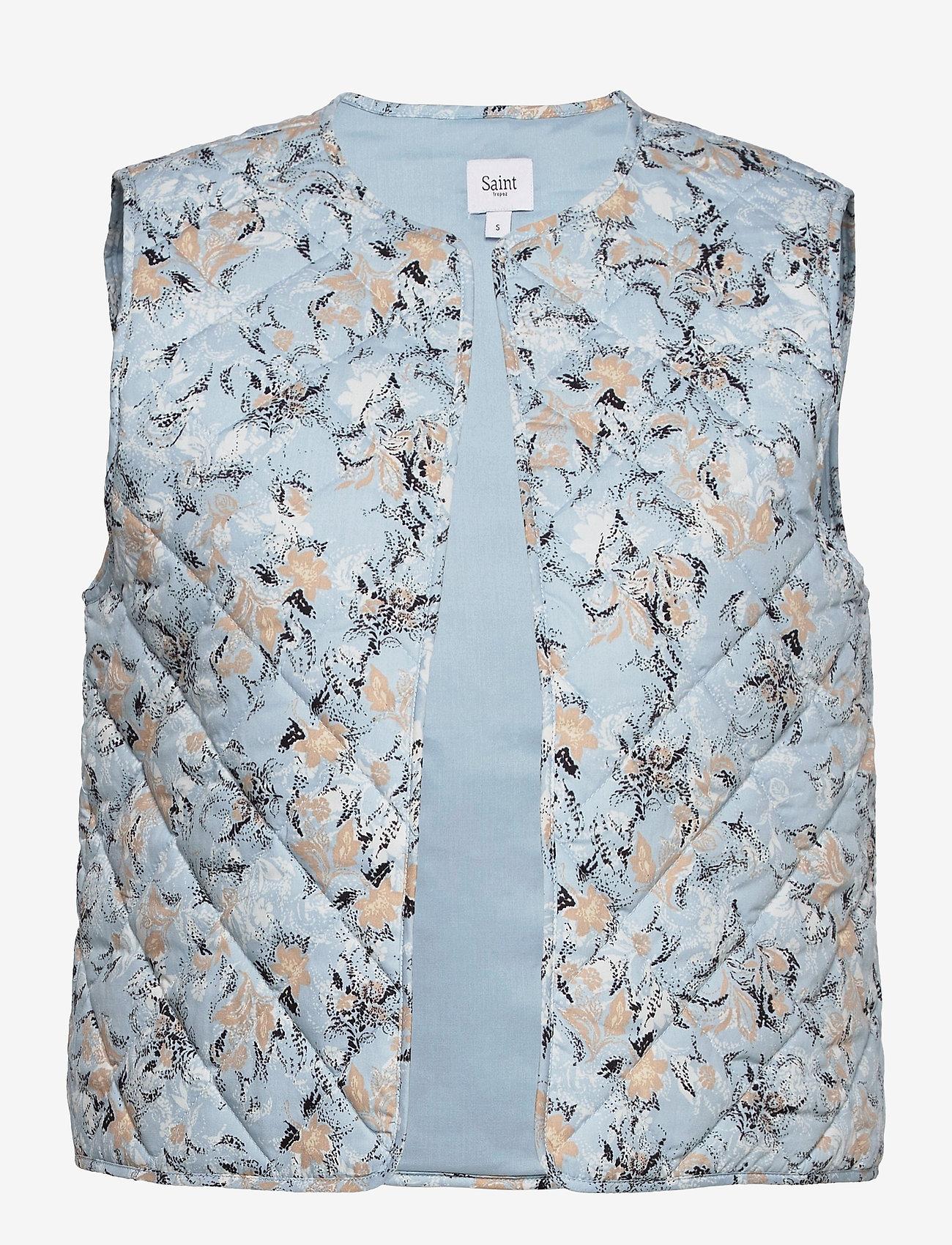 Saint Tropez - EviSZ Quilt Vest - puffer vests - celestial paisly dust - 0
