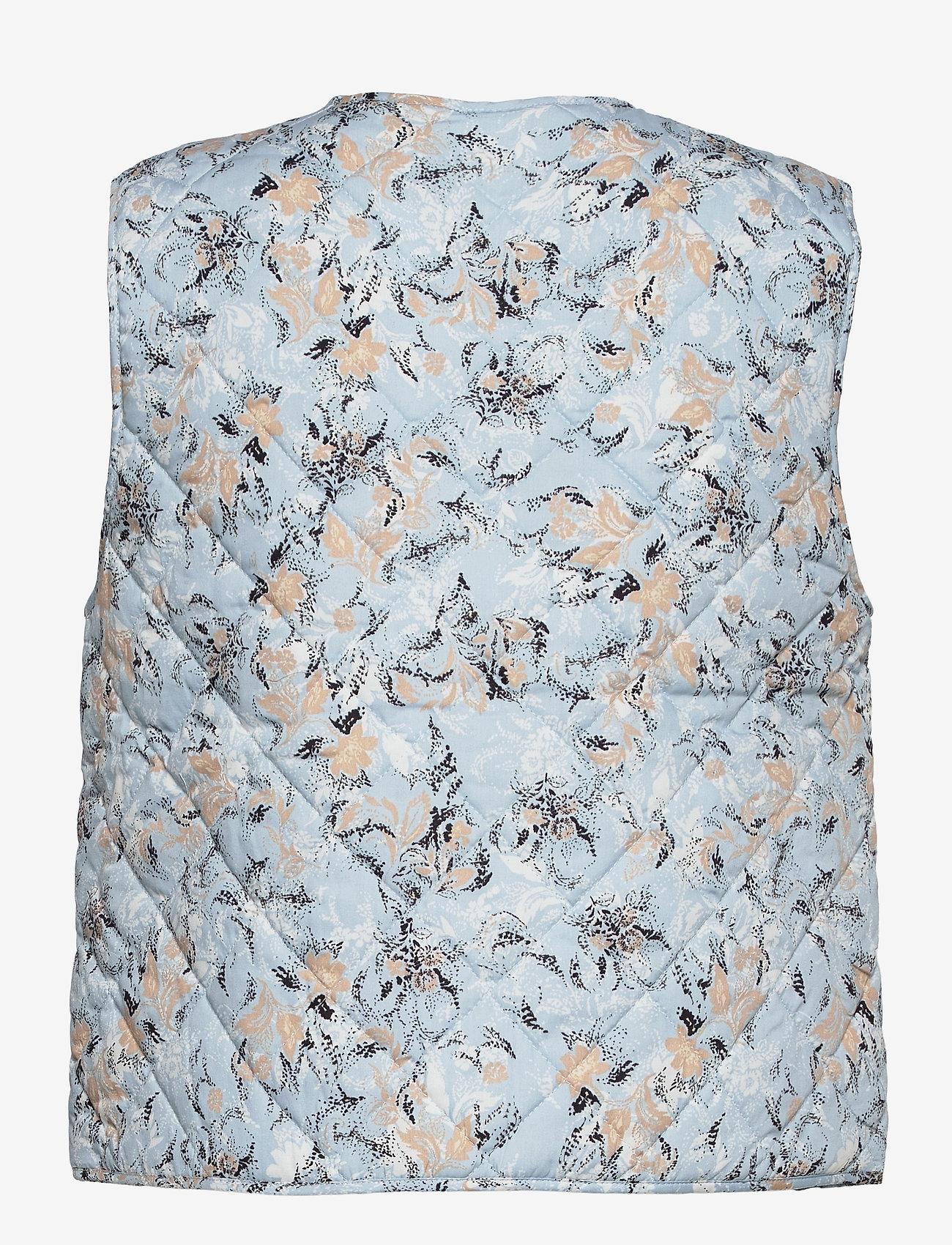 Saint Tropez - EviSZ Quilt Vest - puffer vests - celestial paisly dust - 1