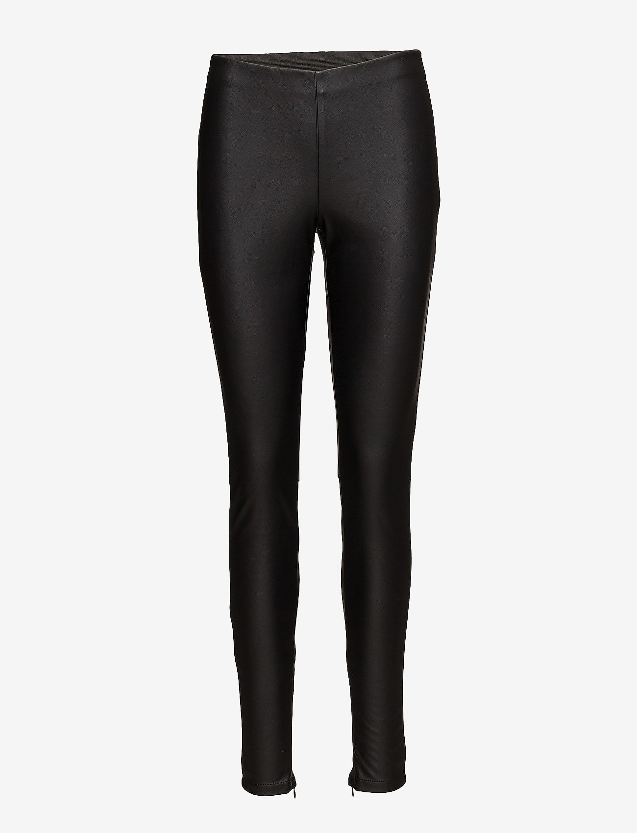 Saint Tropez - FAUX LEATHER LEGGINGS - nahka - black - 1
