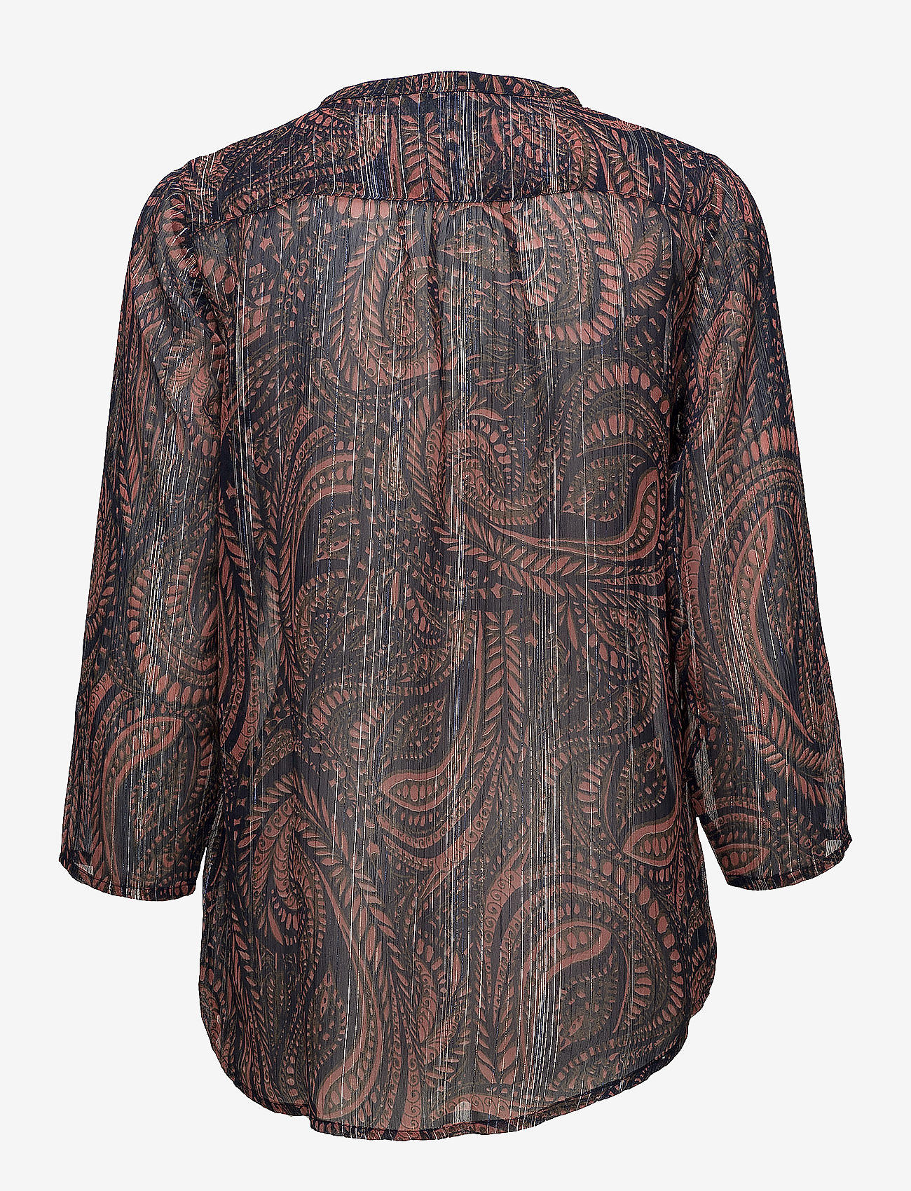 Saint Tropez - PAISLEY PRINT CHIFFON BLOUSE - blouses à manches longues - lantana
