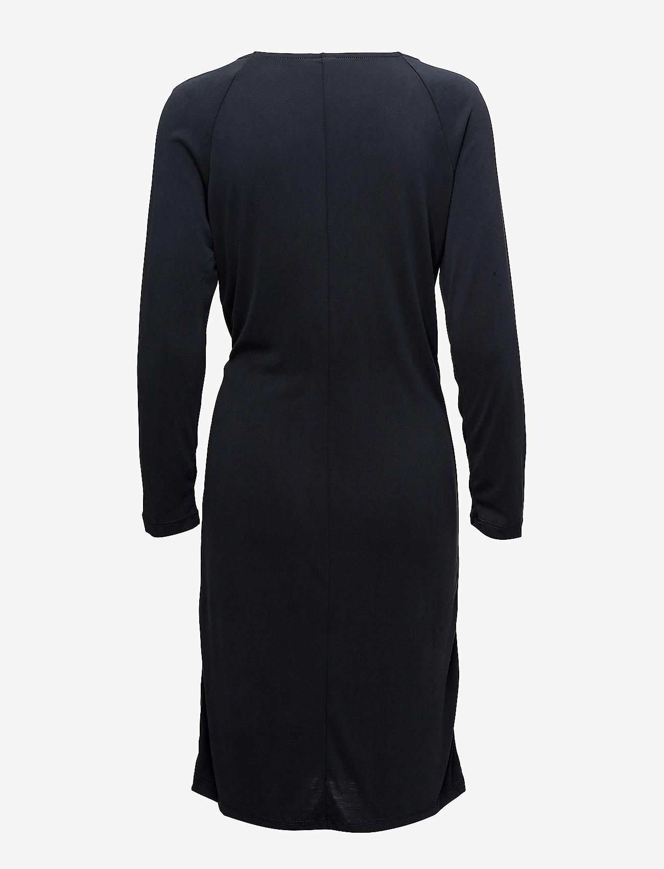 Saint Tropez Modal Dress W.knot - Klänningar Phantom