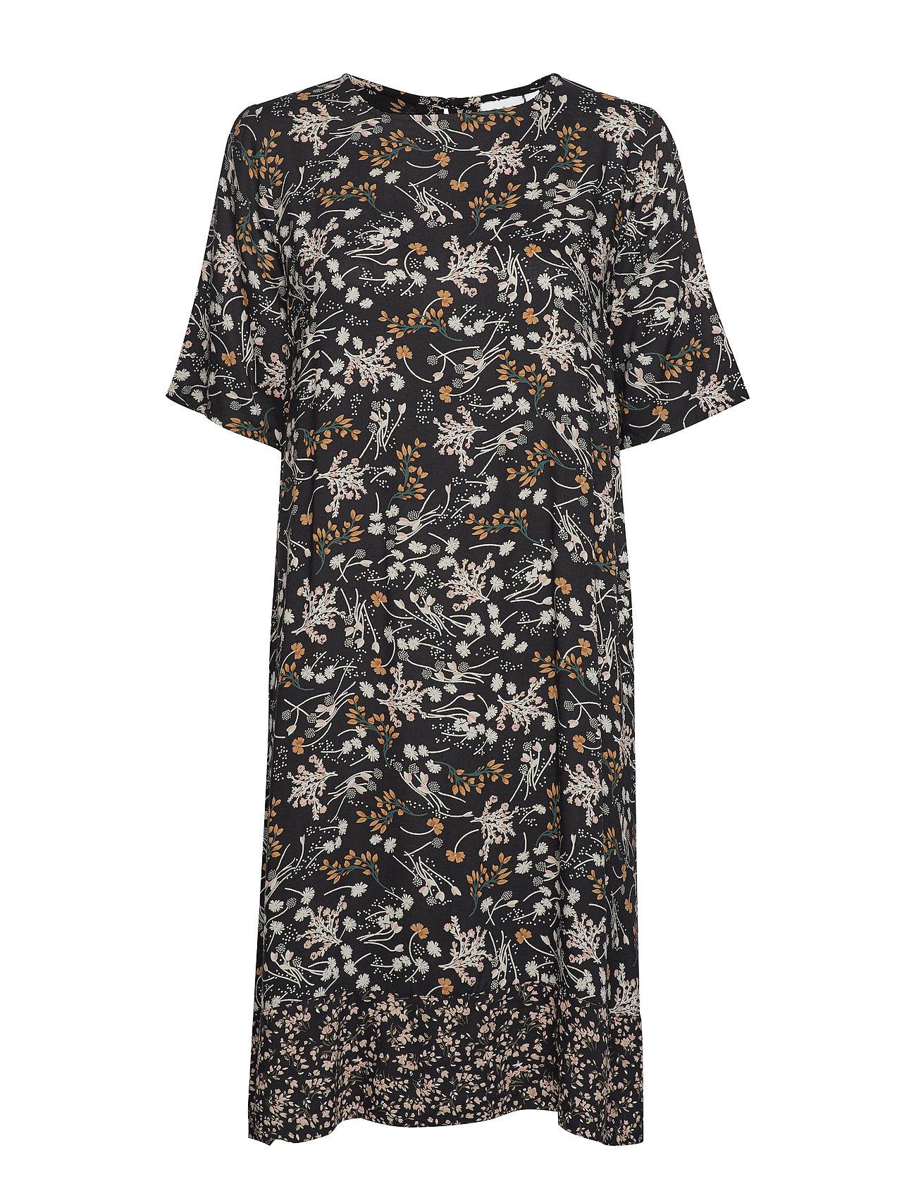Saint Tropez U6022, WOVEN DRESS ABOVE KNEE - BLACK