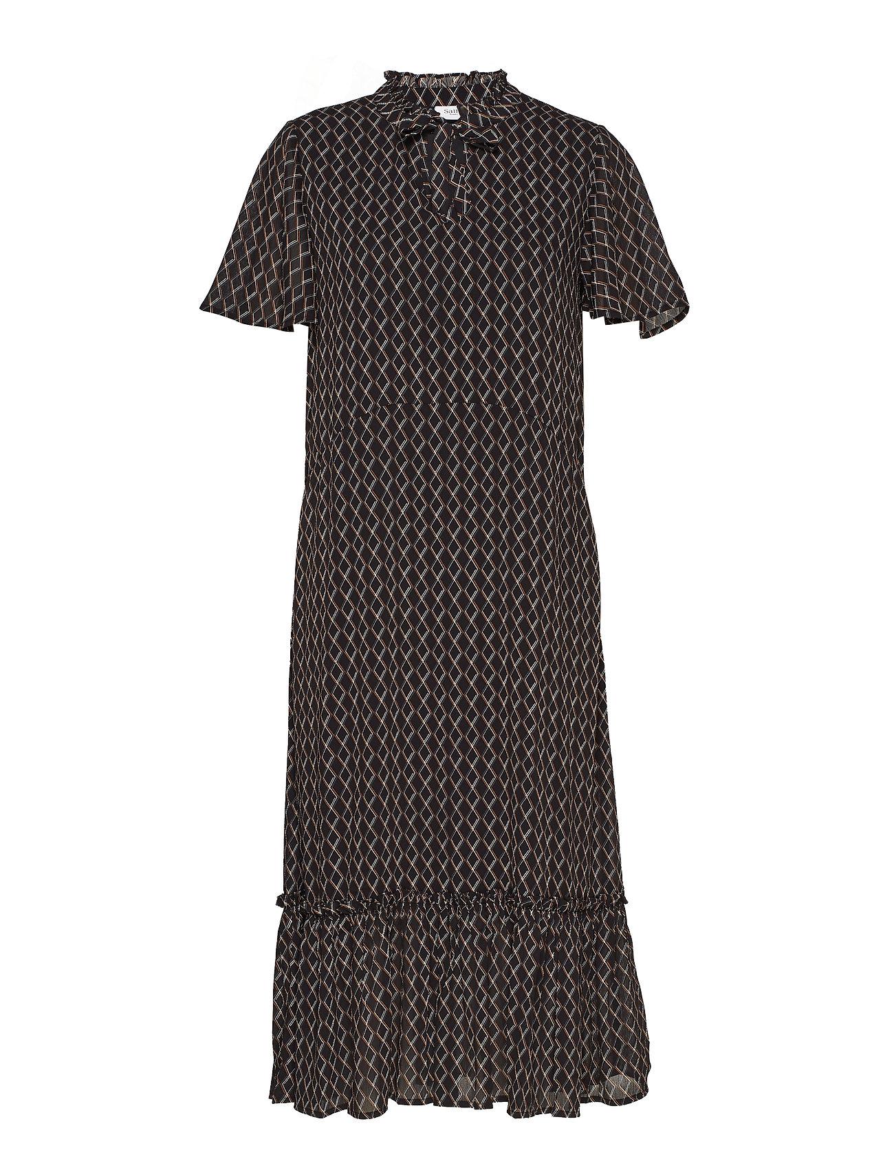 Saint Tropez U6114, WOVEN DRESS - MAXI - BLACK