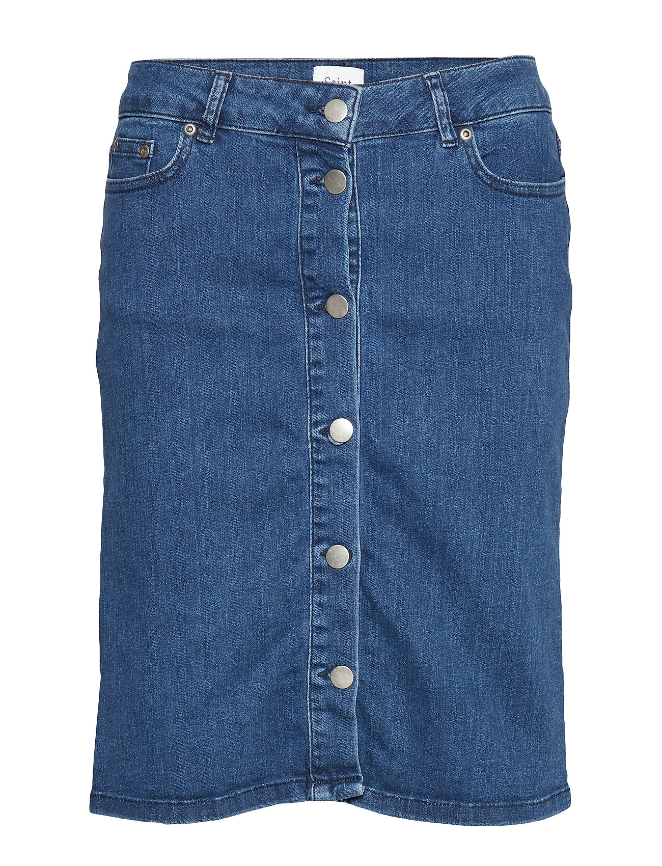 Saint Tropez U8013, SKIRT DENIM ABOVE KNEE - MED.BLUE