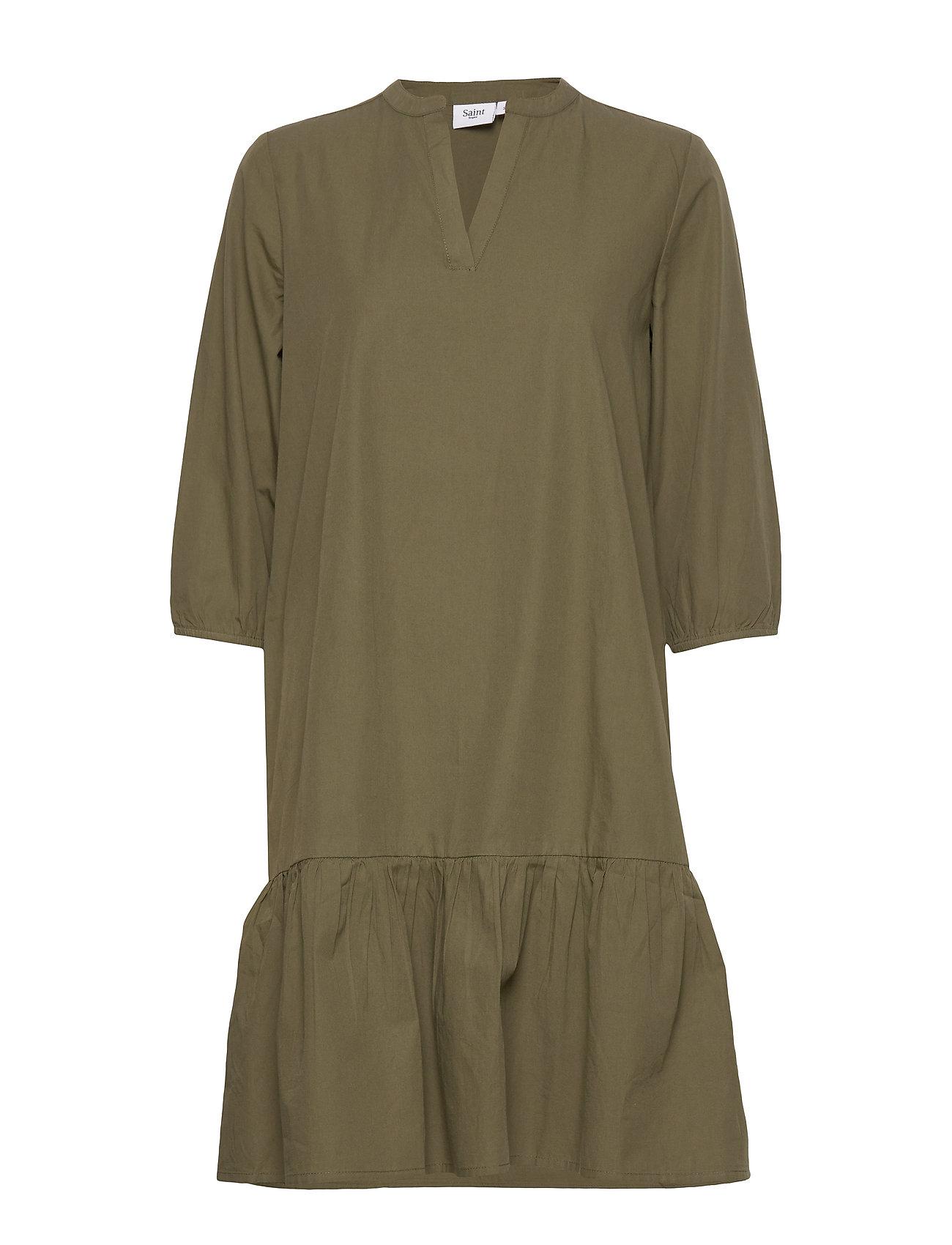 Saint Tropez UzmaSZ 3/4 Dress - ARMY GREEN
