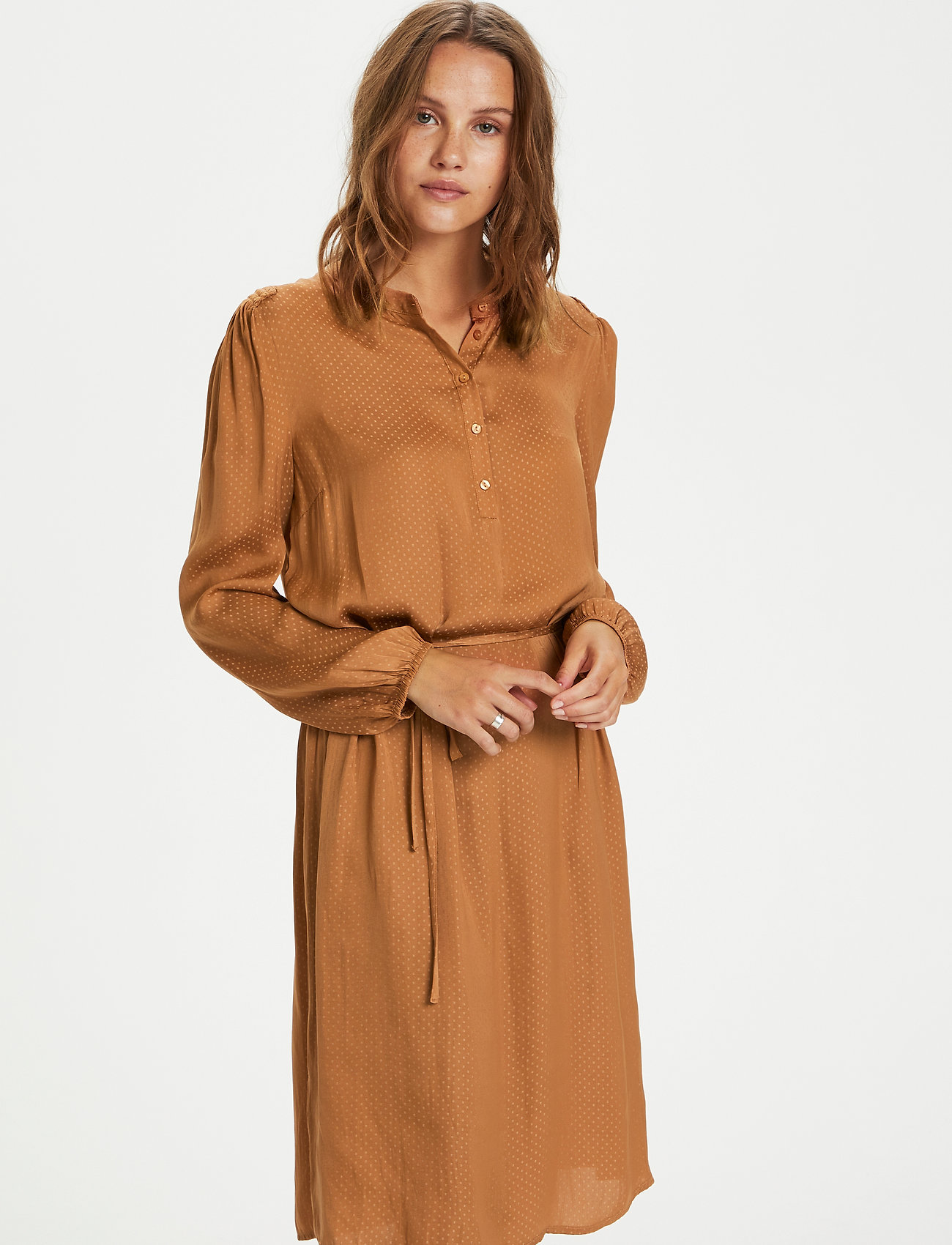 Saint Tropez - EsraSZ Dress - alledaagse jurken - pecan brown - 0